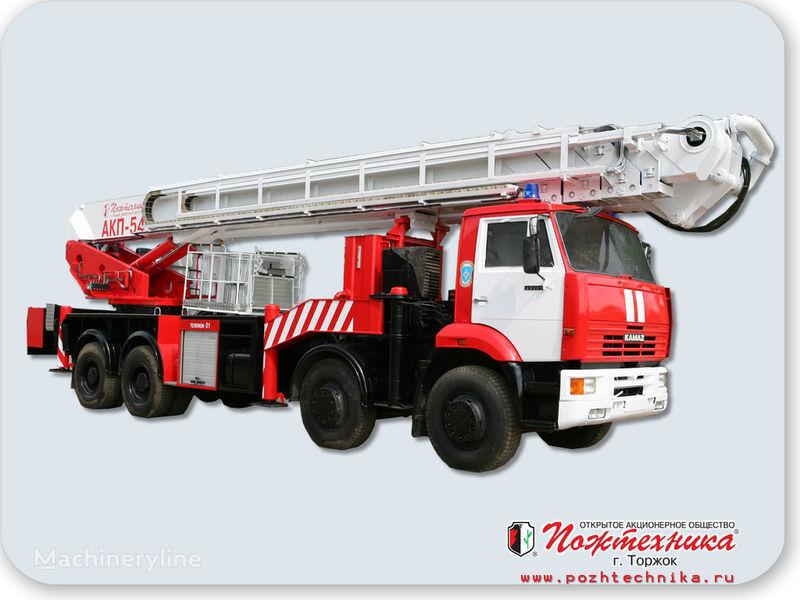new KAMAZ AKP-54 fire ladder truck