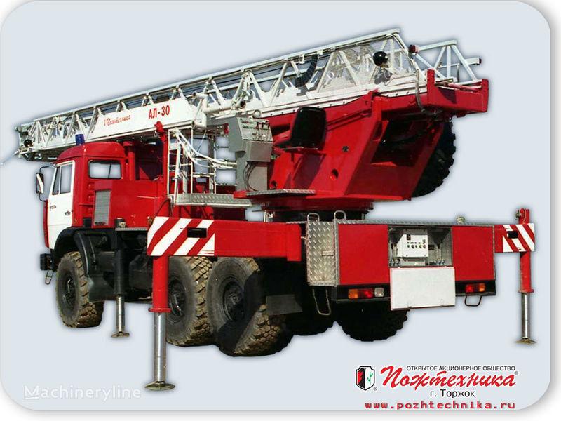 new KAMAZ AL-30 fire ladder truck