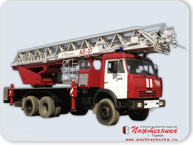new KAMAZ AL-37 fire ladder truck
