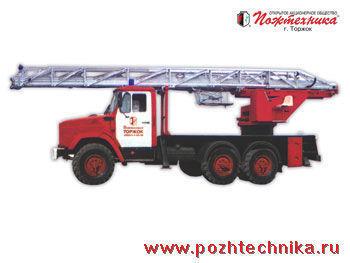 new ZIL AL-30 fire ladder truck