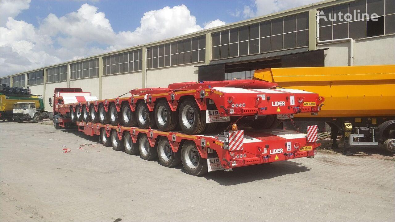 new LIDER 2020 model 150 Tons caapcity Lowbed semi trailer  low bed semi-trailer