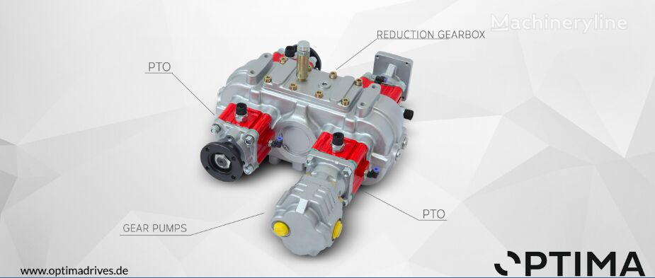 new Optima Getriebe gearbox for combination sewer cleaner