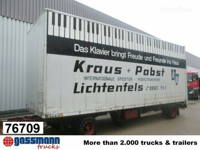 SOMMER AC 160 TVL closed box trailer