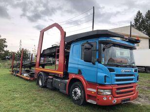 SCANIA P400 car transporter + car transporter trailer