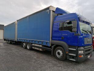 MAN TGA 24.430 tilt truck + tilt trailer