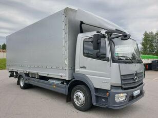 MERCEDES-BENZ 1224 L Atego Pritsche LBW - silber-neutral  1.H tilt truck